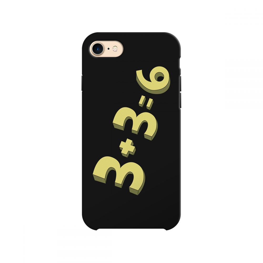 3+3=6 Funny Rick and Morty Inspired Phone Case