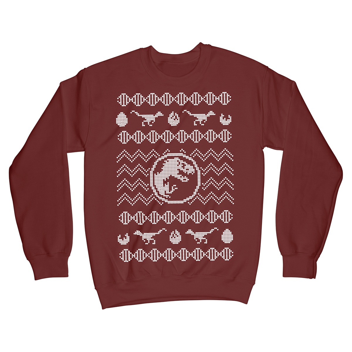 Jurassic Park Dinosaur T Rex Christmas Sweater from Something Vicious