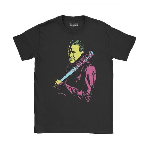 Negan The Walking Dead Pop Art T Shirt Black