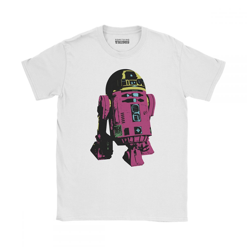R2D2 Star Wars Pop Art T Shirt White