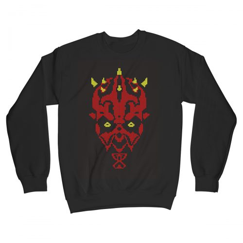Sithmas Darth Maul Star Wars Movie Christmas Jumper Xmas Sweater Black