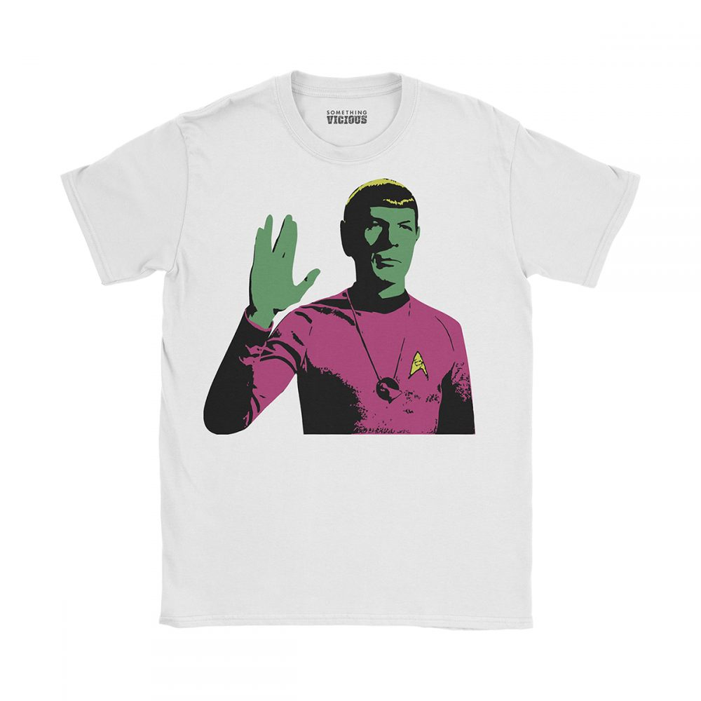 Spock Star Trek Pop Art T Shirt White