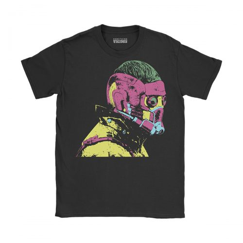 Starlord Guardians of the Galaxy Pop Art T Shirt Black