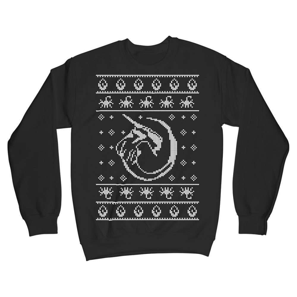 Xenomas Xenomorph Alien Movie Christmas Jumper Xmas Sweater Black