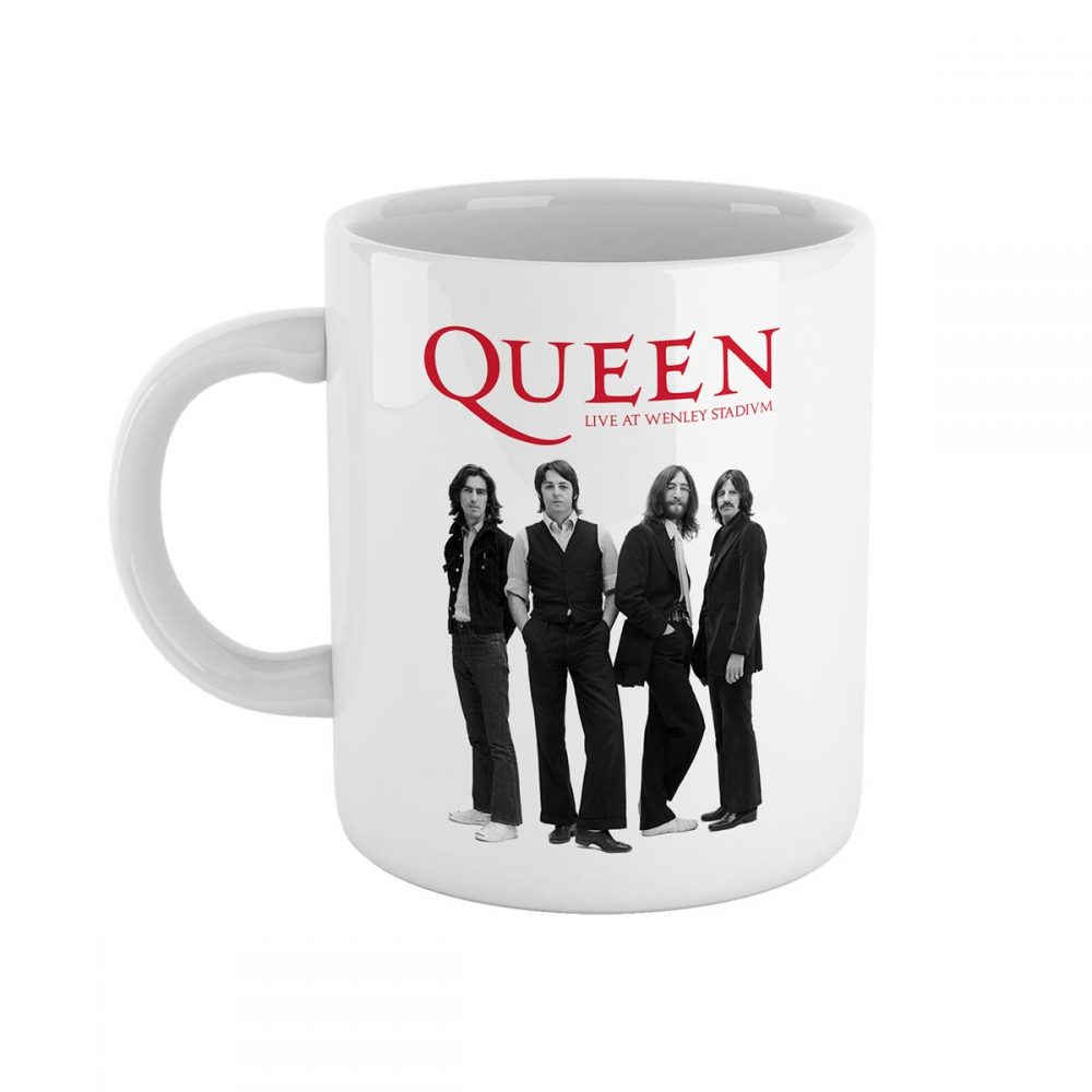 Queen Live at Wenley Stadivm Funny The Beatles Mug