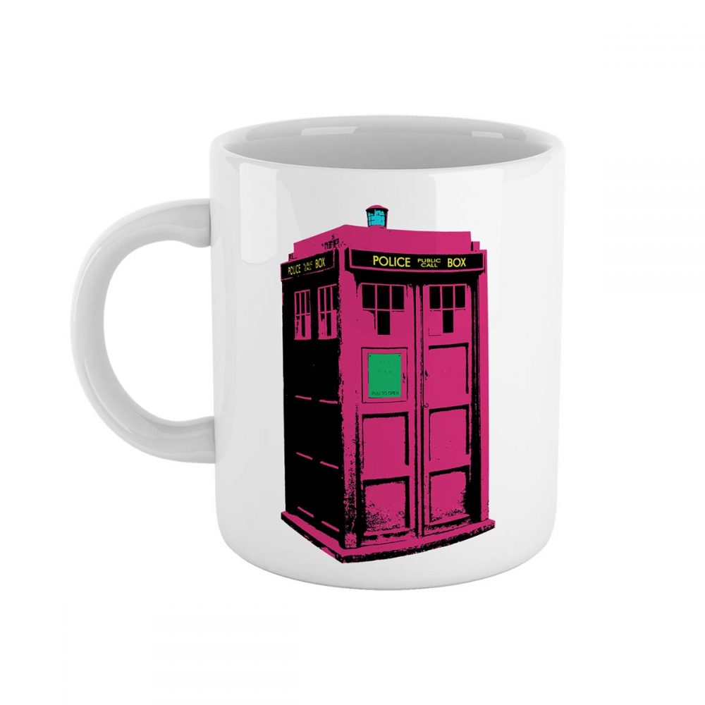 Tardis Dr Who Pop Art Mug